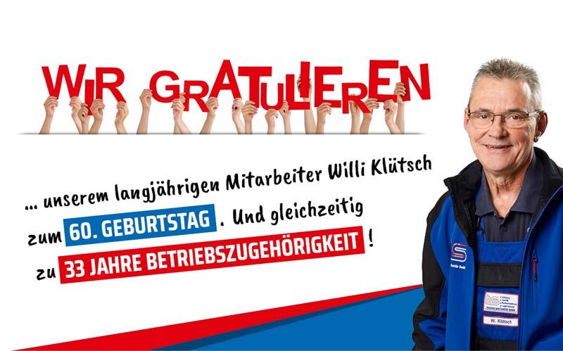 Herzlichen Glückwunsch, lieber Willi Klütsch!